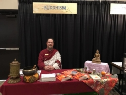 Lama Matt Representing Buddhism at the Greater Kansas City Interfaith Council's Table of Faiths
